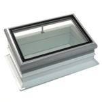 Fenêtre en verre pour toit plat